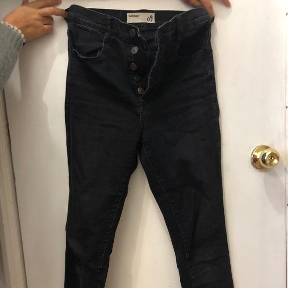 Black button up jeans